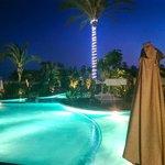 Night time pool shot