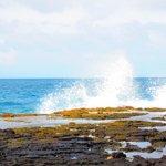 Ocean and lava rocks