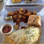 Egg white omlette w/sides