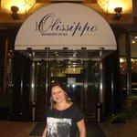 Foto da portaria do Hotel