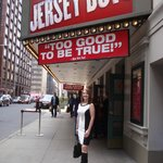 Me waiting for Jersey Boys!