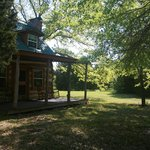 Log Cabin front porch!!
