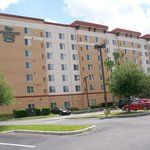 Exterior of Hotel & Parking Lot