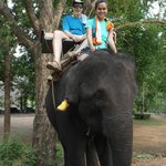 I had the chance to ride the elephant after I got use to her for a while and the guy who control