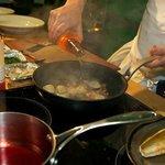 Head Cook Marcus cooking demo in Borough Market