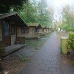 row of bungalows that leads from the tents to the other parts of the camping