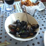 Prince Edward Island mussels and handcut fries