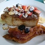 Special French Toast and Sausage Breakfast