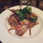 Rabbit with parsnips and barley pilaf