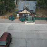 View from first room - dumpsters