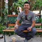 Oscar enjoying el café in El Valle!