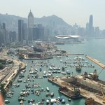 Day time view of the HK side from the rooftop