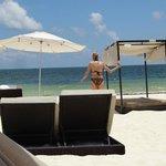 Nice beach, hardly anyone here - everyone at the pools