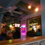blurry, but the inside view from our table