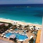 Vista da praia olhando da sacada do quarto 11º