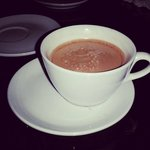 Hot chocolate at the reception