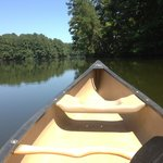 Canoeing on a beautiful day
