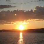 Sunset on boat from Apostle Islands