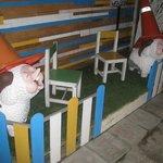 Lawn lambs.