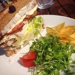 Our Rockefeller Club Sandwich - delicious homemade toasted bread with freshly sliced turkey, bac