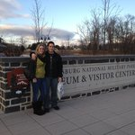 Us in front of the Gettysburg sign