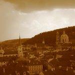 city from Prague Castle