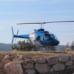 Helicopter landing at our resort - Sparkling Hills