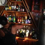 Sir D's Bar. This lady was so nice. I got a rum punch for $5