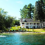 View of Lake House from Lake George