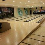 Bowling at the sports bar