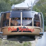 view riding up the Palm Springs rotating Aerial Tram