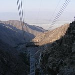 View from riding up the Palm Springs rotating Aerial Tram