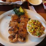 Jumbo Grilled Shrimp with Corn Medley