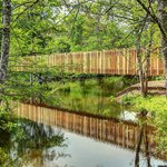 The new footbridge over the Tardoire to the restaurant