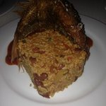 Medium whole fried red snapper