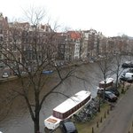 View of the Singel canal from our room