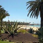 Vista dalla zona delle villette verso la spiaggia