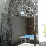 Ping pong/Table Tennis in the courtyard