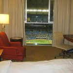 what an awesome way to enjoy a ballgame right from your room!
