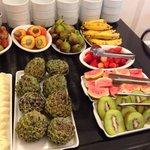 Breakfast fruit selection