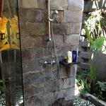 Shower Area of the Outdoor Bathroom in Deluxe Villa