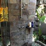 Shower Area of the Outdoor Bathroom in Deluxe Villa