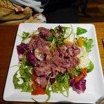 Entrée salade au gésiers