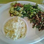Salads + white truffle mac & cheese!