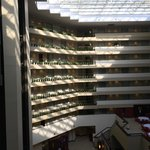 morning sun brightens the hotel