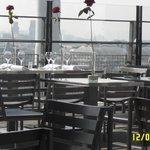 Vista sentados en la terraza del Georges V
