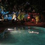 Nightcap by the pool.