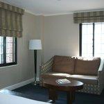 Living room with gorgeous original windows