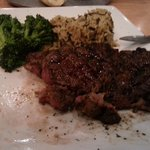 Rib Steak - sorry, I was hungry and starting eating before taking the photo