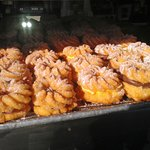 French crullers on display